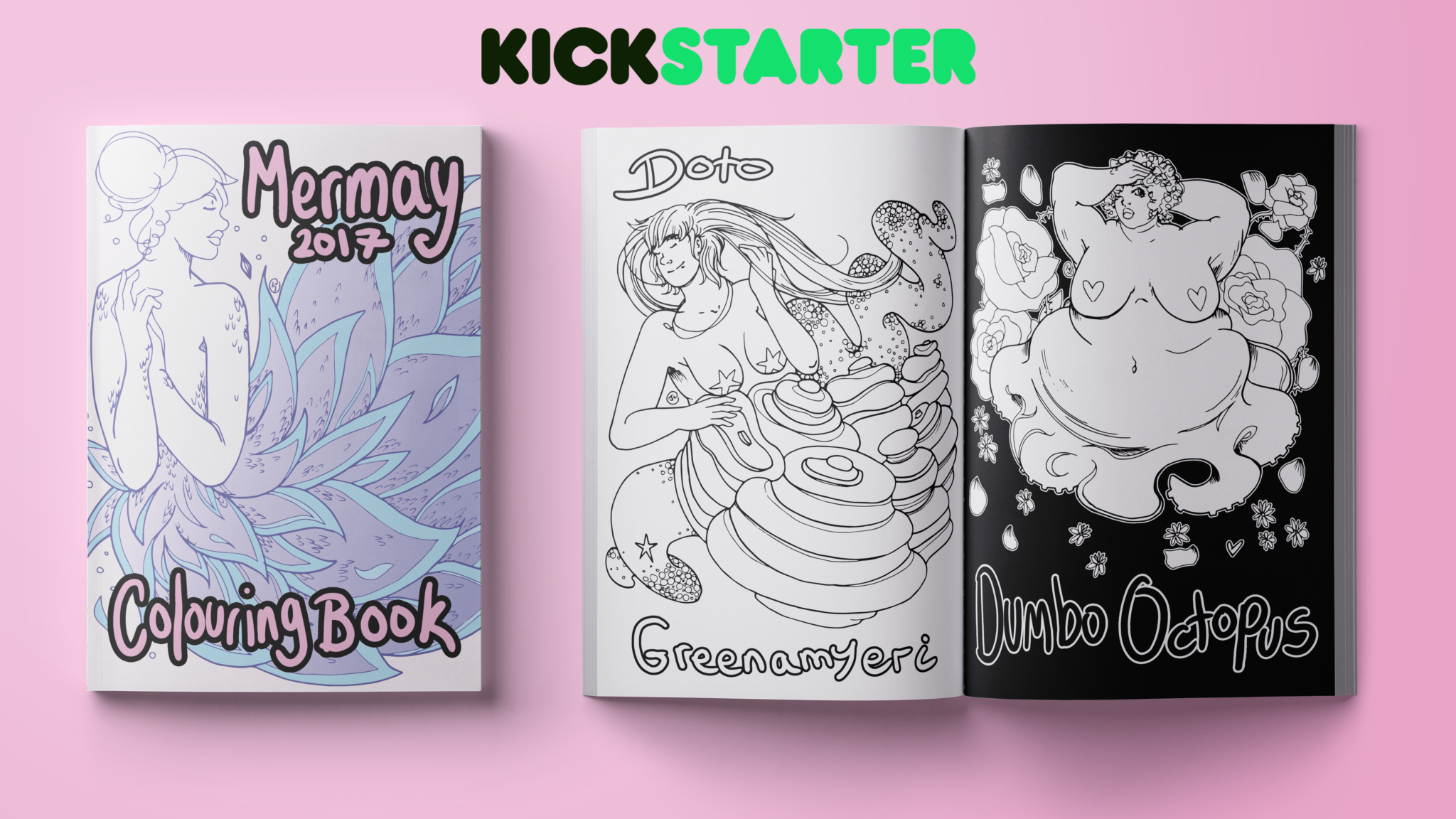 Mermay Colouring Book Kickstarter Launch